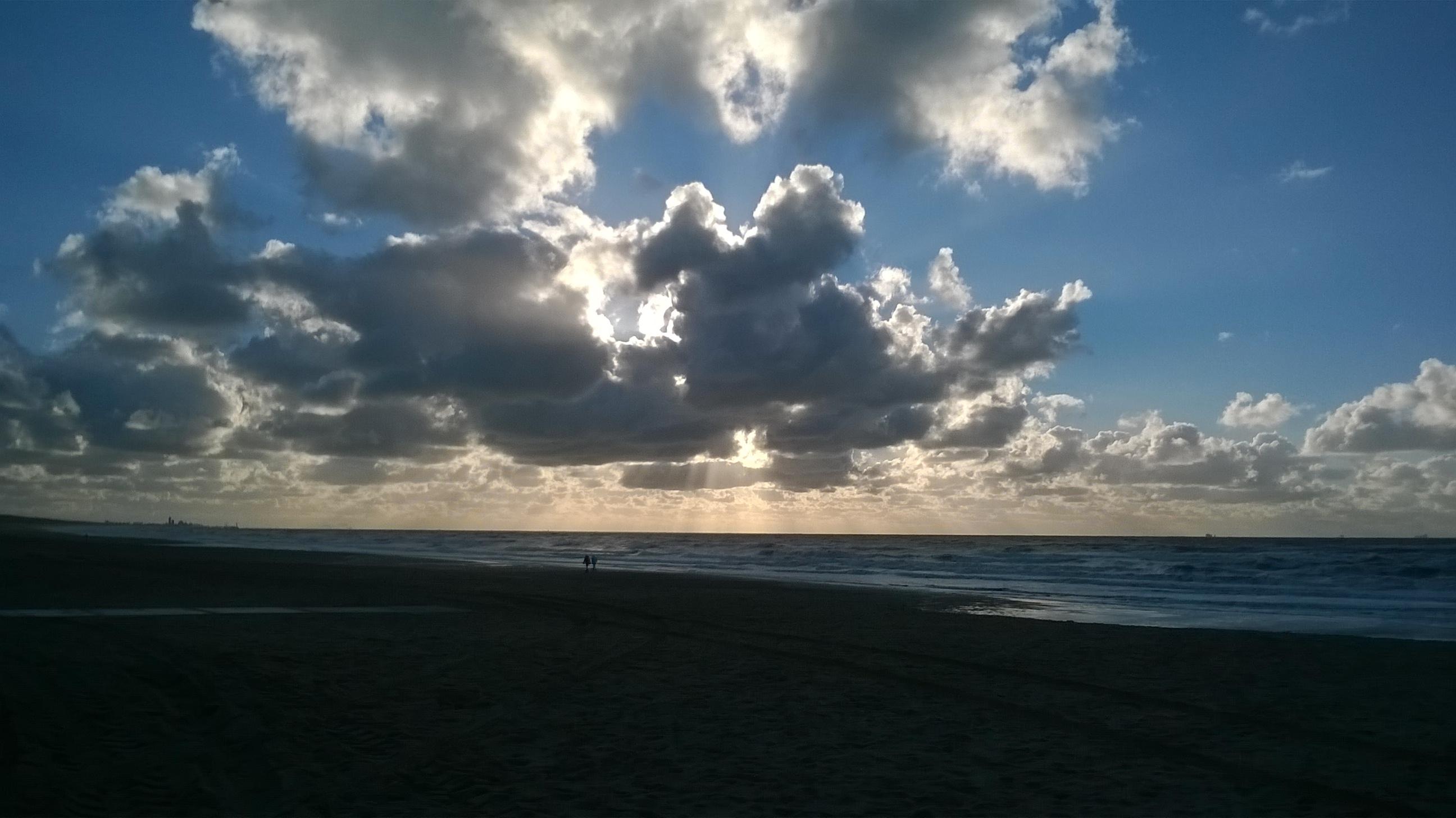 Herrliches Herbstwetter am Strand von Katwijk